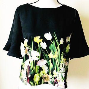 •Victoria Beckham• For Target Floral Print Top